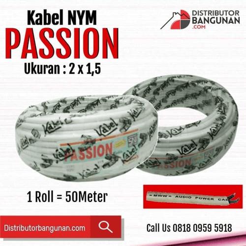 Kabel Listrik NYM PASSION - 2x1,5 - Harga / Meter