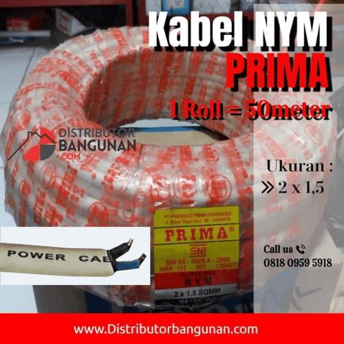 Kabel Listrik NYM PRIMA - 2 x 1,5 - Harga Permeter