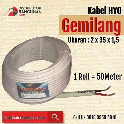 Kabel Listrik Serabut HYO GEMILANG - 2x35x1,5