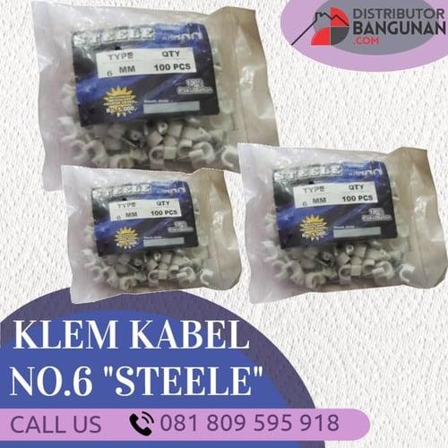 Paku Kleman Kabel Listrik NO 6 mm Steele