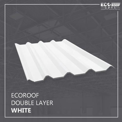Atap Ecoroof UPVC Double Layer 6 Meter Putih