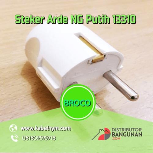 Steker Arde NG Putih BROCO - 13310