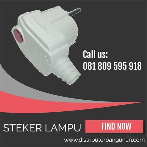 Stop Kontak Steker Lampu Adapter Plug Colokan Listrik Arde Putih