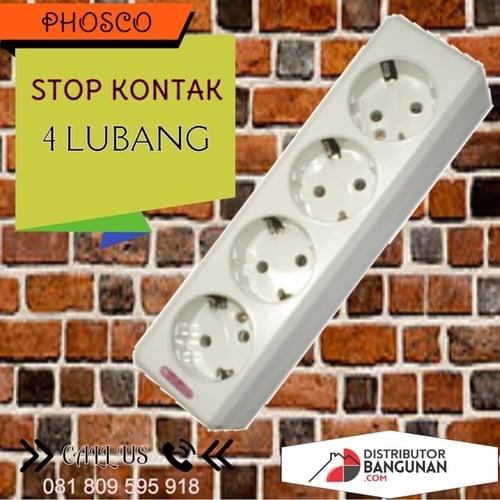Stop Kontak 4 Lubang Tanpa Kabel PHOSCO