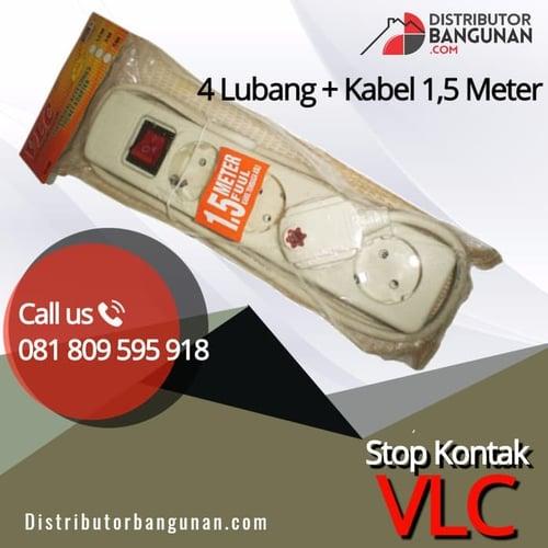 Stop Kontak 4 Lubang Dengan Kabel 1,5 Meter VLC