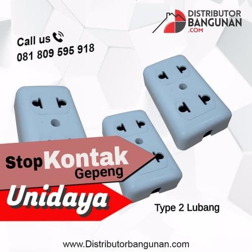 Stop Kontak Gepeng 2 Lubang tanpa Kabel UNIDAYA