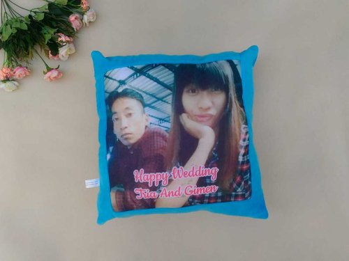 Bantal Foto & Nama Custom Pillow Kado Ulang Tahun - Uk 40x40