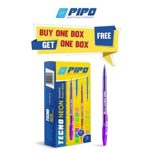 PIPO Pulpen Techno Neon PPS8 Buy 1 Get 1