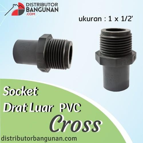 Socket Drat Luar 1 x 1/2' CROSS