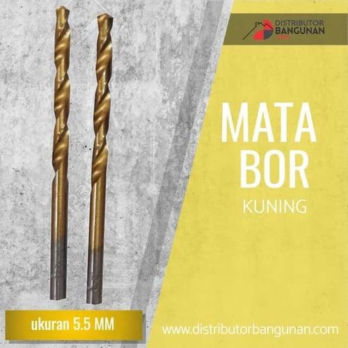 Mata Bor Besi Kayu Beton Drill Kuning Gold 5,5 mm