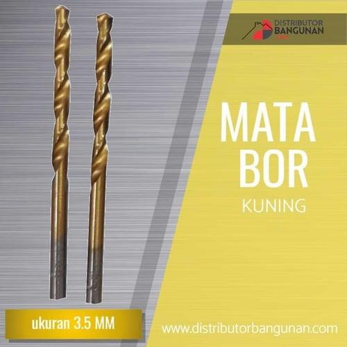 Mata Bor Besi Kayu Beton Drill Kuning gold 3,5 mm