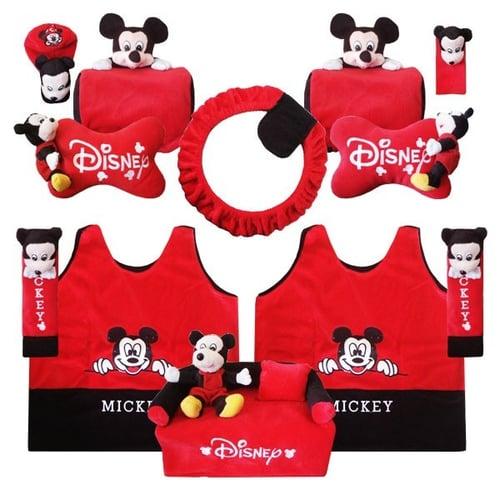 Bantal Mobil Exclusive 8 in 1 Boneka Mickey