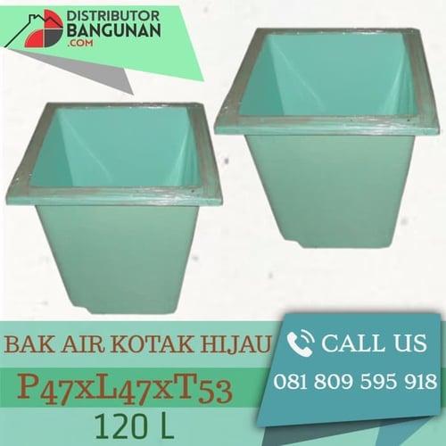 Bak Air Kotak 120 Liter Hijau P47xL47xT53