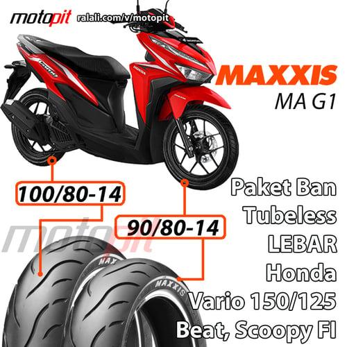 Maxxis Paket Ban Lebar Vario 150 125 Sepasang 90/80-14 100/80-14 MA G1