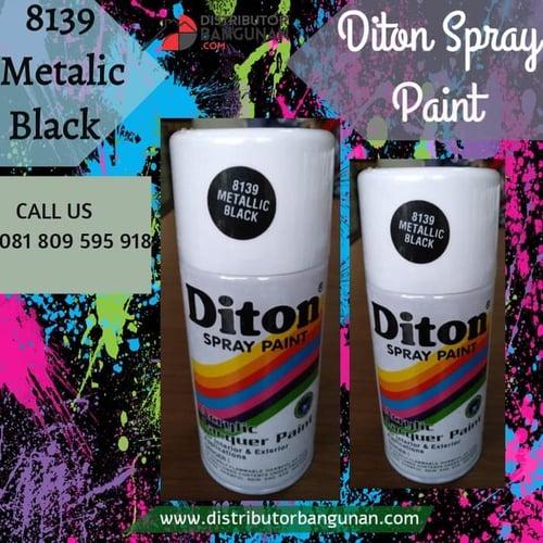 Cat Semprot 8139 Metalic Black 300 cc DITON