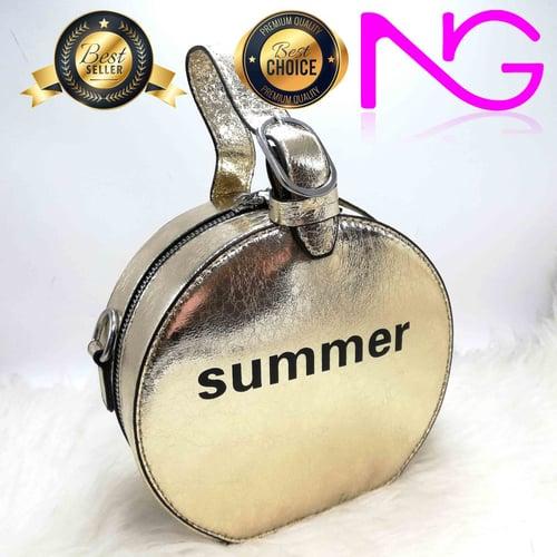 Tas Pesta Import Handbag Gold Summer 18251