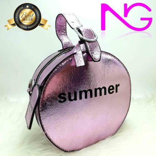 Tas Pesta Import Handbag Pink Summer 18251