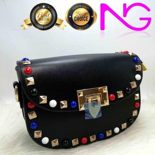 Tas Pesta Import Handbag Clutch Box Black 9911