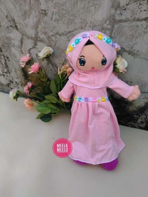 Boneka Muslimah - Boneka Eliza Pink - Mainan Edukasi