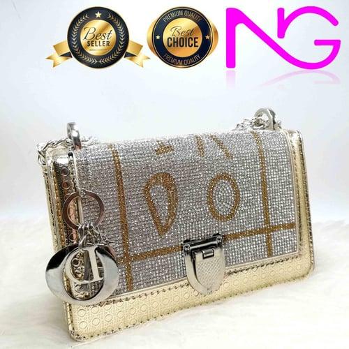 Tas Pesta Import Handbag Clutch Box Gold 911