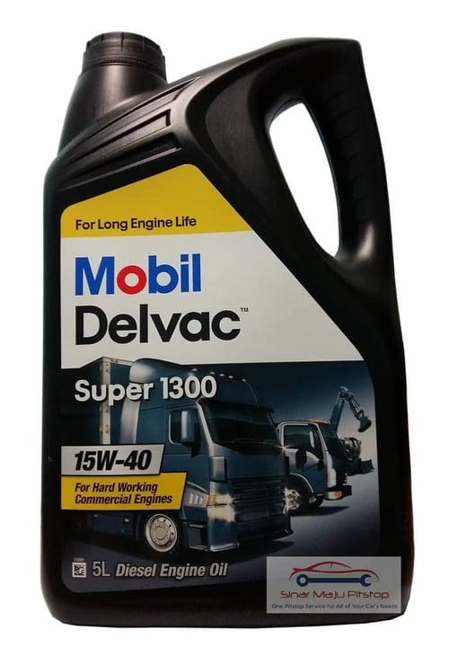 Mobil Delvac Super 1300 15W-40 Oli Pelumas 5 L