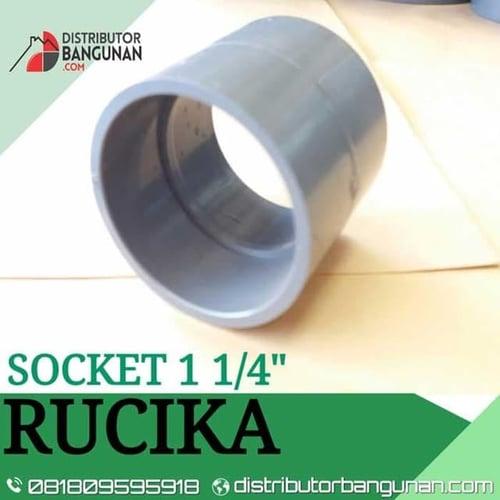 Fitting Pvc Sambungan Pipa Pvc Socket 1 1/4 Rucika