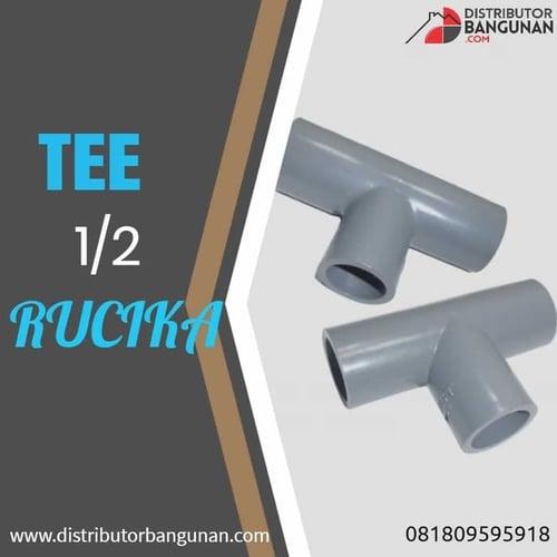 Fitting Pvc Sambungan Pipa Pvc Tee T Faucet Reducer AW 1/2 Rucika