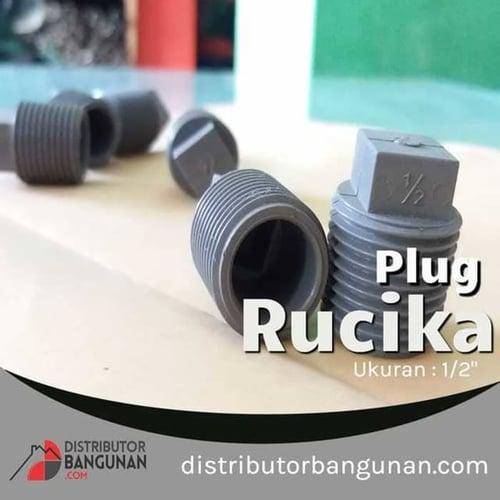Fitting Pvc Sambungan Pipa Pvc Plug 1/2 Rucika