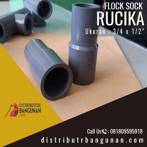 Fitting Pvc Sambungan Pipa Pvc Flock Sock Dalam 3/4 x 1/2 Rucika