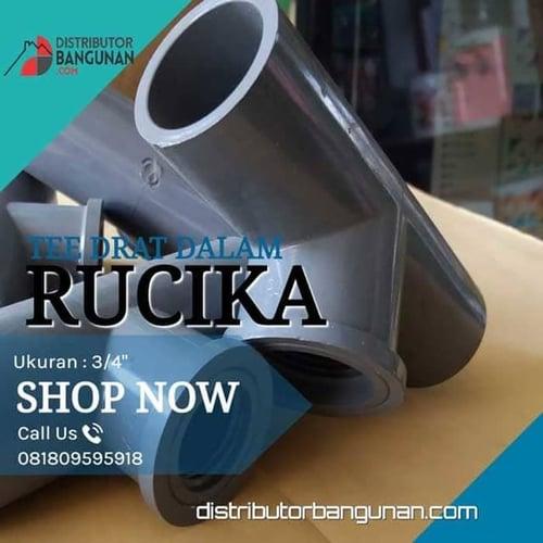 Fitting Pvc Sambungan Pipa Pvc Tee Drat Dalam 3/4 Rucika