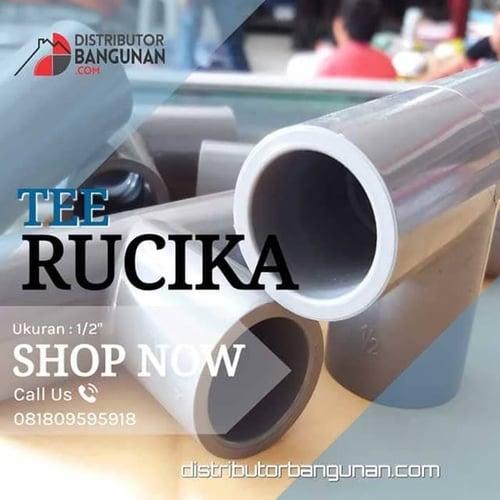 Fitting Pvc Sambungan Pipa PvcTee 1/2 Rucika