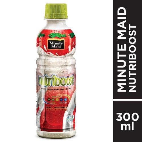 MINUTE MAID Nutriboost Strawberry PET 300ml 1 Karton