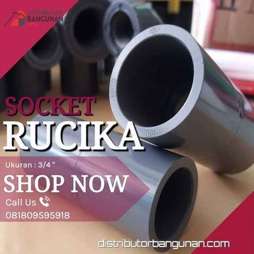 Fitting Pvc Sambungan Pipa Pvc Socket 3/4 Rucika