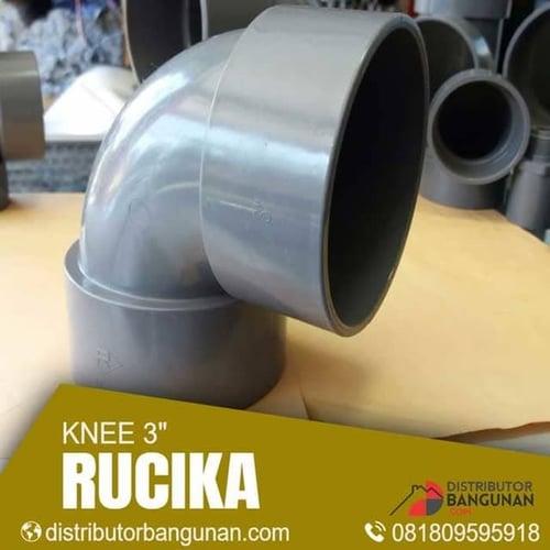Fitting Pvc Sambungan Pipa Pvc Paralon Knee 3 Rucika