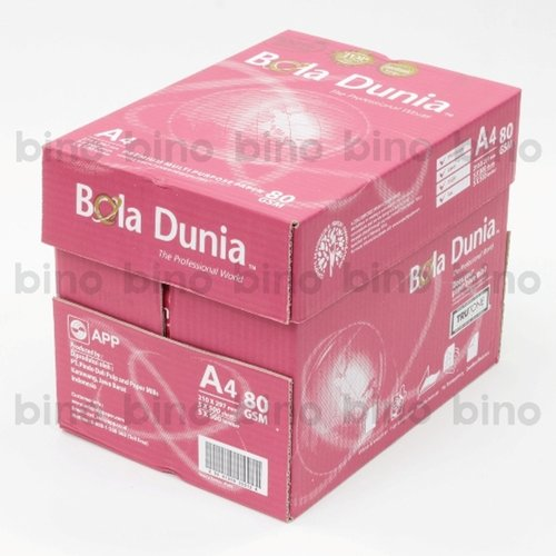 BOLA DUNIA Paper Photocopy 80gsm A4 - BDA PC 80 A4