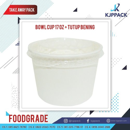 Paper Bowl Tutup Bening 17Oz 500ml