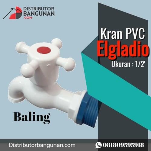 Kran Keran Air Plastik PVC Baling Engkol ELGLADIO 2in1 GROSIR
