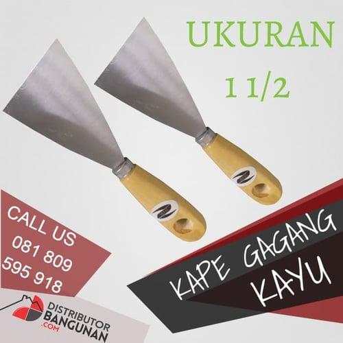 Kape Kapi Tukang Gagang Kayu Skrap Scrape Scraper Pisau Dempul 1 1/2
