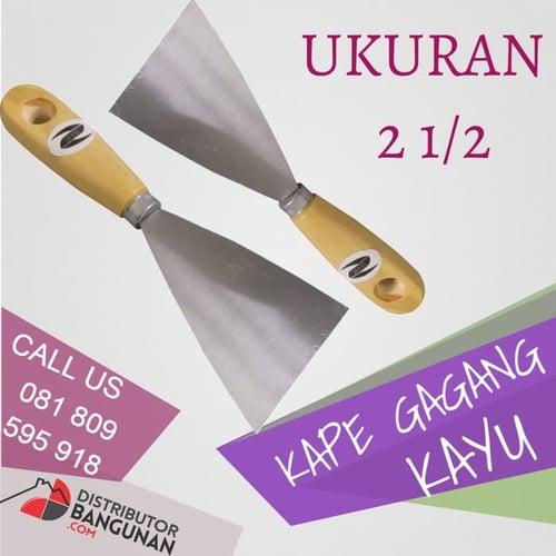 Kape Kapi Tukang Gagang Kayu Skrap Scrape Scraper Pisau Dempul 2 1/2