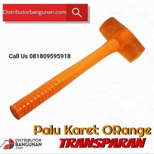 Palu Karet Orange transparan