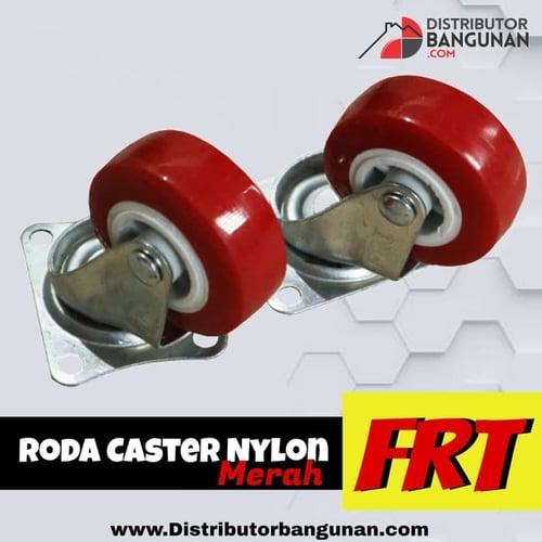 Roda Caster Nylon Merah FRT