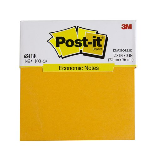 Post It 3M Warna Economic Notes, Memo Stick 654BE-OR