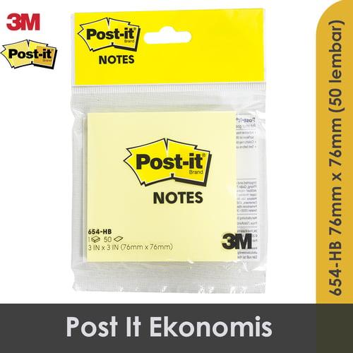 Post It 3M Ekonomis Warna Kuning 3x3 654-HB