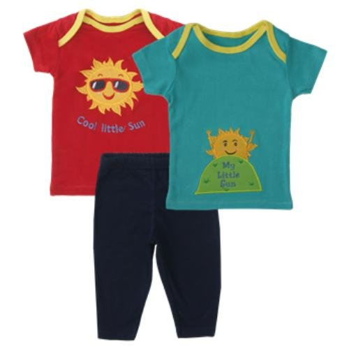 Bear Hug 3 Pieces Set Bayi Laki-laki 3-9M Cool Little Sun Merah
