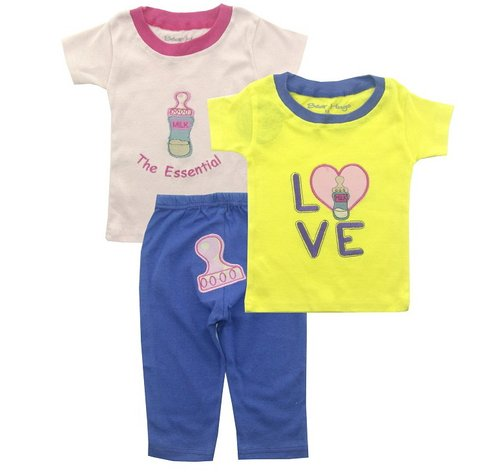 Bearhug 3 Pieces Set Bayi Perempuan 12-24M Love Kuning