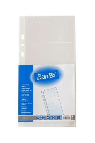 Bantex Business Card Pocket 235x120mm 10 Sheets - 2191 08