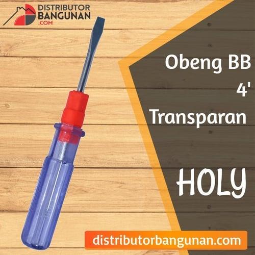 Obeng Bolak Balik 4 Transparan HOLY