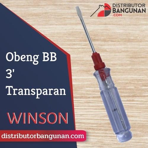 Obeng Bolak Balik 3 Transparan WINSON