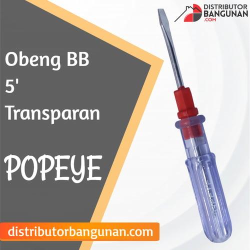 Obeng Bolak Balik 5 Transparan POPEYE