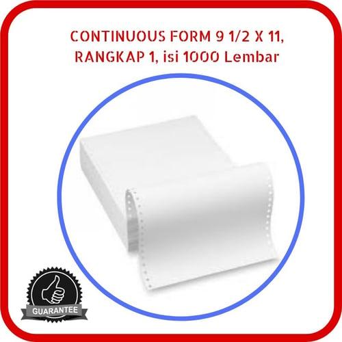 Continuous Form Paper NCR 9.5 x 11 1 Rangkap 1000 Lembar Putih